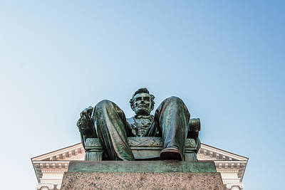 Politicians Photograph - Watchful Abe by Todd Klassy