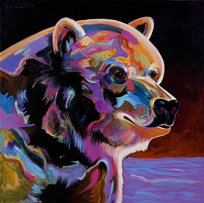 Abstract Realism Painting - Watching For The Catch by Bob Coonts