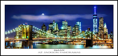 Urban Scenes Photograph - Watching Over New York Poster Print by Az Jackson