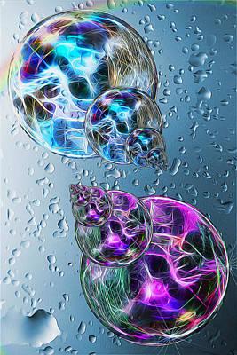 Water Painting - Water Bubble Babies by John Haldane
