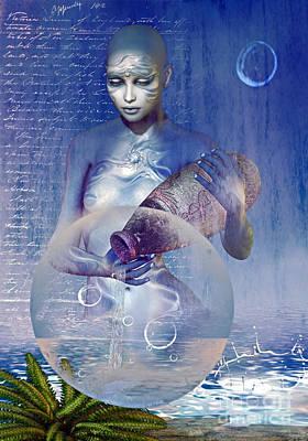 Water Elemental Print by Shadowlea Is
