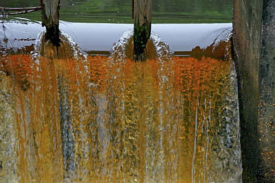 Water Fall At Grismill Pond Print by Danny Jones