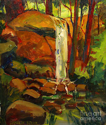 Water Fall In White Tail Reserve Original by Charlie Spear