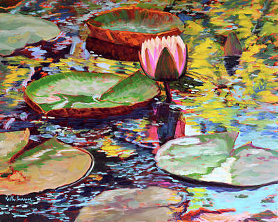Water Lilies 7 Original by Keith Burgess
