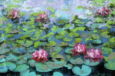 Contemplative Painting - Water Lilies by Douglas AmEnde