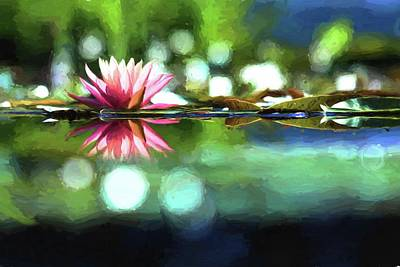 Waterlily Photograph - Water Lily Impression by Carol R Montoya