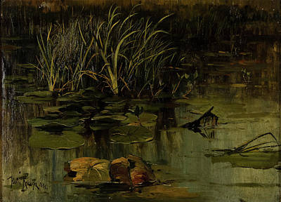 Lilies Painting - Water Lily by Julius Von Klever