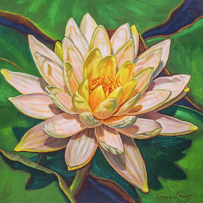 Water Lily Study 2 Original by Fiona Craig