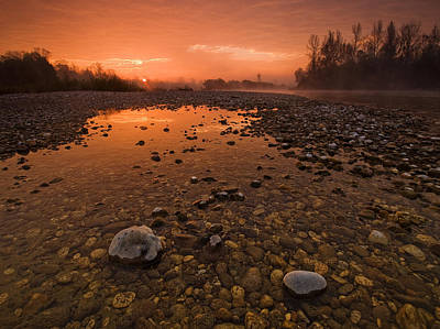 Morning Photograph - Water On Mars by Davorin Mance