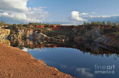 Alentejo Photograph - Water Pit In The Abandoned Mine Of Sao Domingos. Portugal by Angelo DeVal