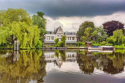 Amsterdam Photograph - Water Reflections by Nadia Sanowar