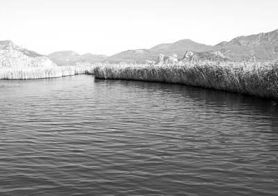 Water Scene In B And W Print by Svetlana Sewell