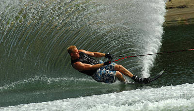Skiing Action Photograph - Water Skiing Magic Of Water 11 by Bob Christopher