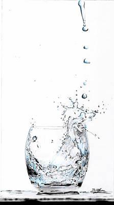 Drip Drawing - Water Splash 1 by Daniel House