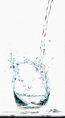 Drip Drawing - Water Splash 2 by Daniel House