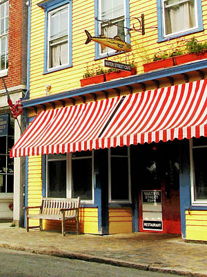 Store Photograph - Water Street Cafe by Susan Savad