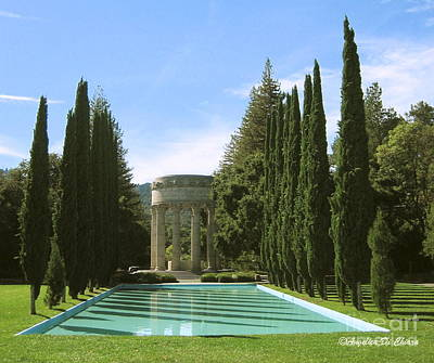 Water Temple And Pool - California Print by Italian Art