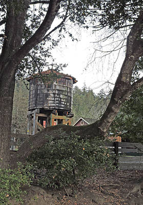 Water Tower @ Roaring Camp Print by Grace Dillon