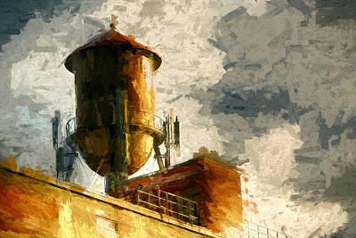 Water Tower Print by John K Woodruff