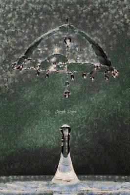 Sign Digital Art - Water Umbrella - Da by Leonardo Digenio