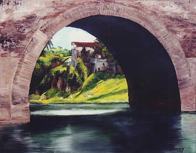 Water Under The Bridge Print by Dominica Alcantara