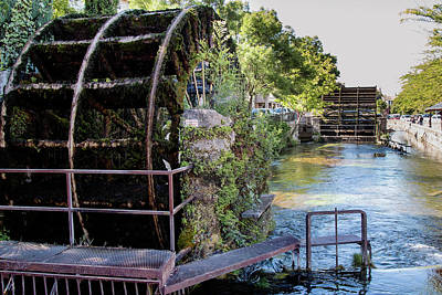 Water Wheels Print by Claudio Maioli