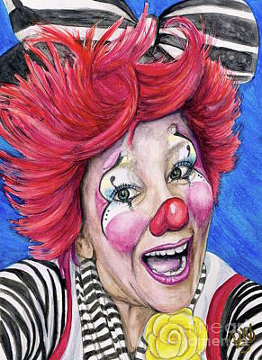 Klown Painting - Watercolor Clown #24 Kelly Lynn Diehl by Patty Vicknair