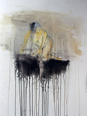 Figure Painting - Watercolor Figure by Leah Hicks