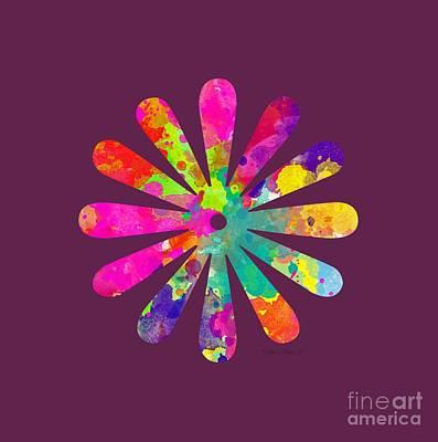 Watercolor Flower 2 - Tee Shirt Design Print by Debbie Portwood