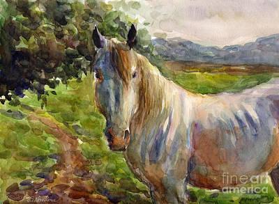 Watercolor Horse Print by Svetlana Novikova