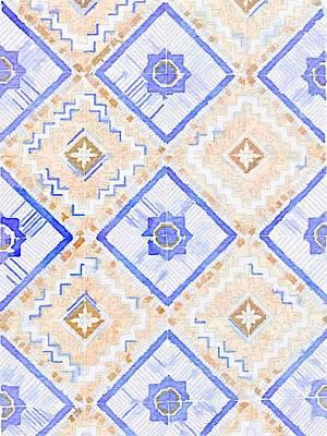 Tiles Painting - Watercolor Italian Ceramic Tile by Ariane Moshayedi