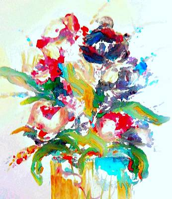 Floral Painting - Watercolor Paint Splattering by Lisa Kaiser