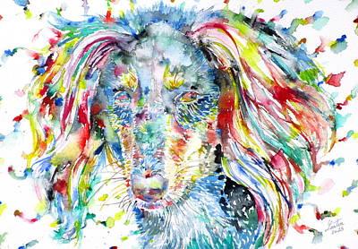 Watercolor Saluki Original by Fabrizio Cassetta