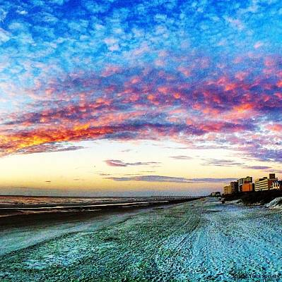 Beach Photograph - Watercolor Sky by Mary Lewis
