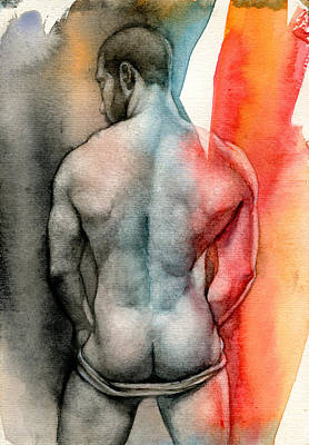 Watercolor Painting - Watercolor Study 6 by Chris  Lopez