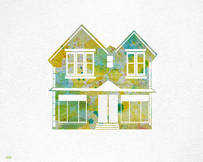 Colorful Painting - Watercolour House by Oiyee At Oystudio