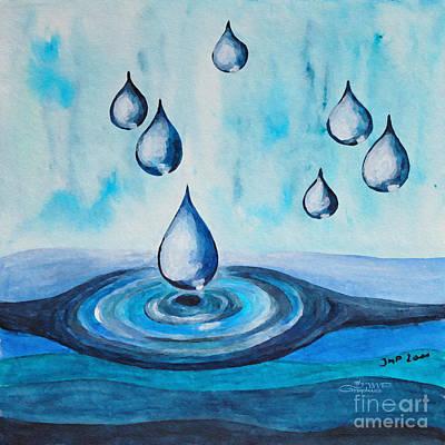 Waterdrops Print by Jutta Maria Pusl