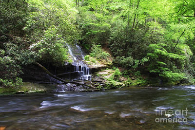 Rural Scenes Photograph - Waterfall And Mountain Creek by Jill Lang