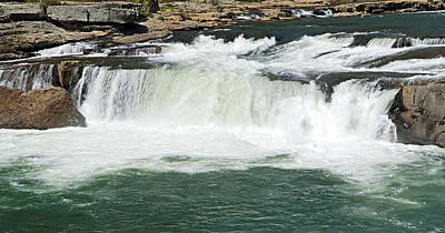 Waterfall At Ohiopyle State Park Print by Larry Ricker