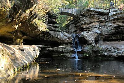Waterfall At Old Man Cave Print by Larry Ricker