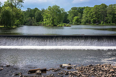 Waterfall Clinton New Jersey Print by Terry DeLuco