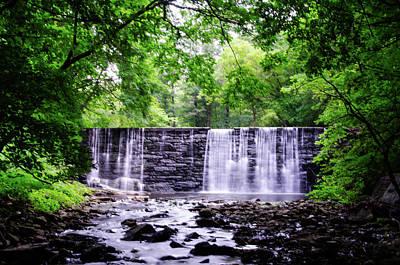 Digital Art - Waterfall In Gladwyne Pa by Bill Cannon