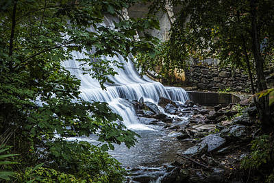 Waterfall On The Creek By Greybeard In Montreat Print by Randall Nyhof