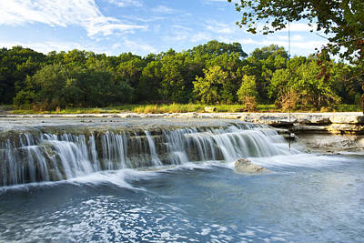 Waterfalls At Bull Creek Print by Mark Weaver