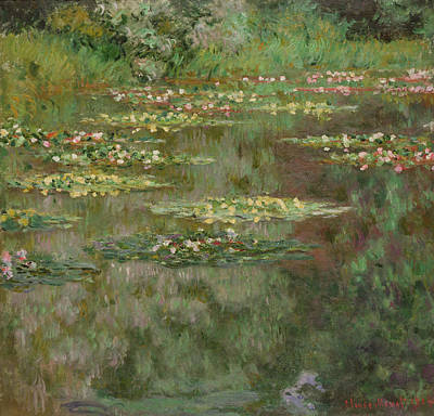 Waterlilies Or The Water Lily Pond Print by Claude Monet