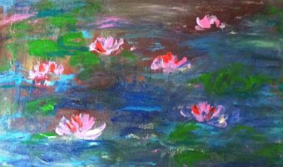 Waterlily Drawing - Waterlily Pond 91116 by Hae Kim