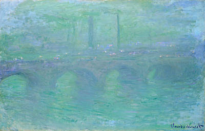 Perspective Painting - Waterloo Bridge, Dusk by Claude Monet