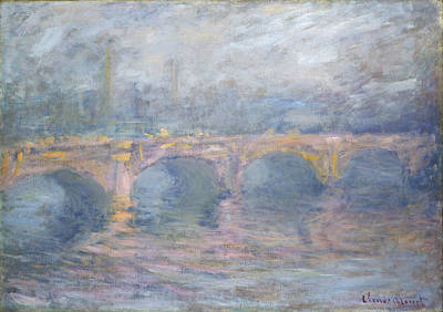 Haze Painting - Waterloo Bridge, Sunset by Claude Monet
