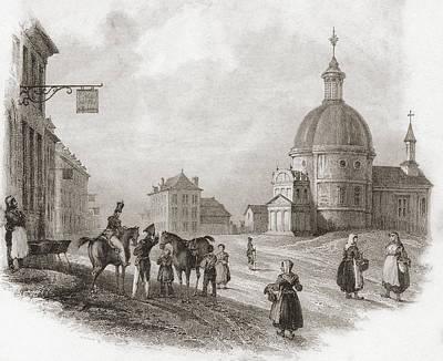 Waterloo, Walloon Brabant, Belgium In Print by Vintage Design Pics