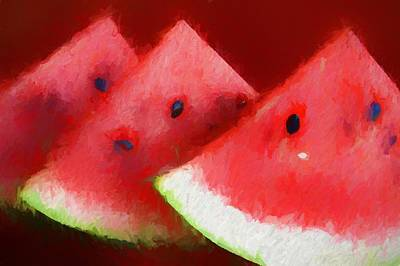 Watermelon Mixed Media - Watermelon by Dan Sproul